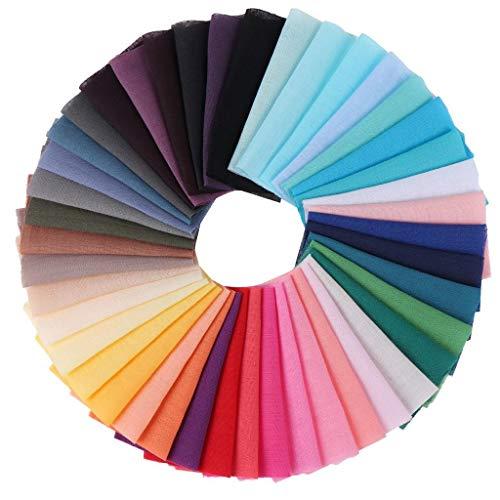 Olgaa 200 Stück Baumwollstoff Nähen Quadratische Stoffreste Nähen Stoff Quadrate Verschiedene Farben Baumwolle Patchwork für DIY Handwerk Party Zubehör (10 x 10 cm)