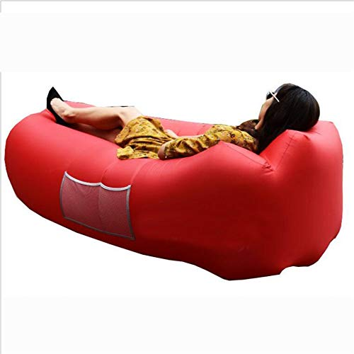 For Sale! Fancyart Outdoor Beach Sleeping Bag, Portable Air Sofa Bed, Water Inflatable Bed,Red