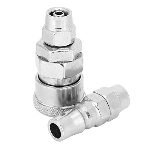 Conector rápido de enchufe rápido de compresor tratado térmicamente de 10 piezas para manguera de aire de poliuretano para máquina de vacío
