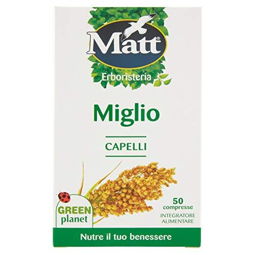 Matt - Integratore Miglio - Integratore Alimentare per il Benessere di Capelli e Unghie - 50 Compresse (22,5 g)