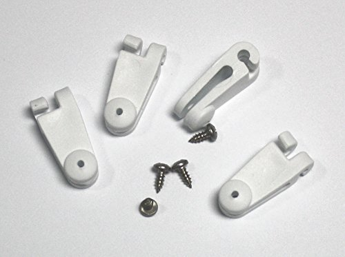 4 x Laufhaken mit Edelstahlschraube für Sonnensegel für 2-2,5 mm Stahlseil (Seilspannmarkise Leichtlaufhaken)