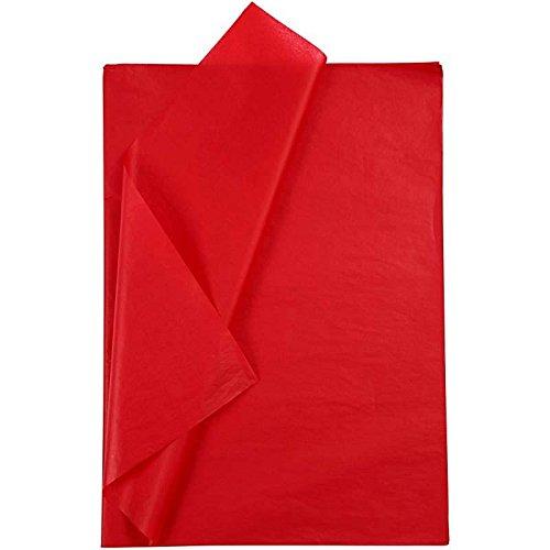 Creavvee® Decoupage Seidenpapier 50x70 cm, Rot 25 Bögen