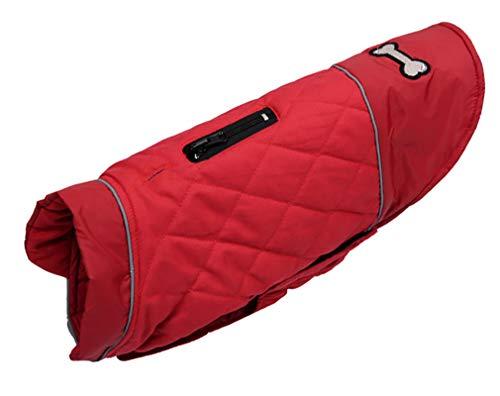 Sunnykud Hundemantel Jacke für Winter Hundejacke Doppelseitig Wasserdicht Winddicht Hundejacke Warm Reversibel Kleidung Mantel Hundeweste für Kleine Medium Große Hunde Hundepullover