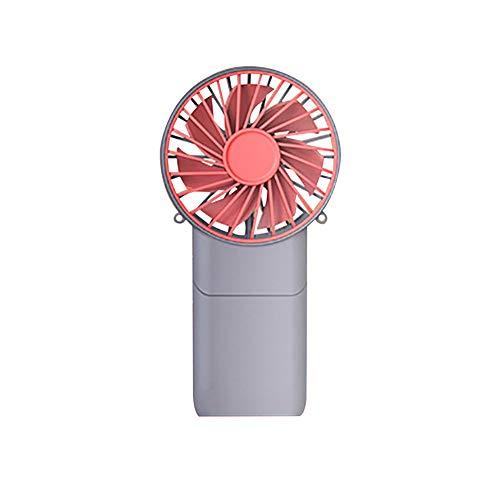 Clenp Ventilador, Ventilador De Escritorio Silencioso Usable Recargable Recargable Portátil del PDA USB Rojo Gris Talla única