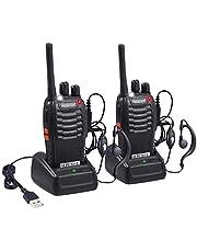 Proster Walkies Talkies Batería Recargable Walky Talky Profecionales 16 Canales CTCSS DCS Transmisores Receptores Radiocomunicación Gran Alcance Emisora Radio con Pinganillos