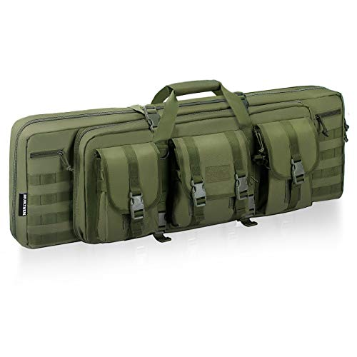 HUNTSEN Tactical Double Long Rifle Pistol Gun Bag Firearm Transportation