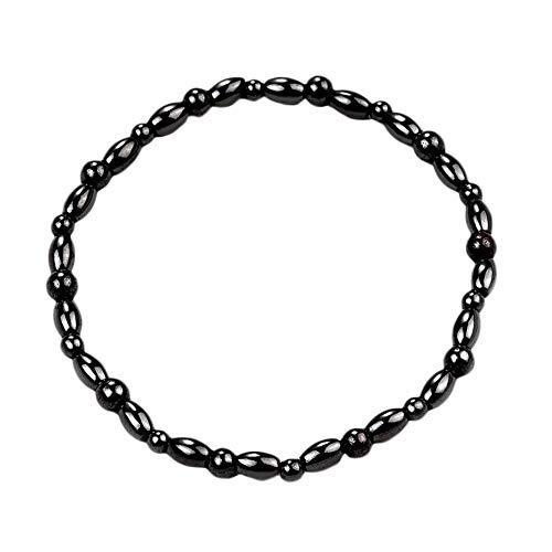 N / E Moda piedra magnética pierna tobilleras pulsera hombres mujeres negro tobillo pulsera regalos perder peso pies pulsera joyería