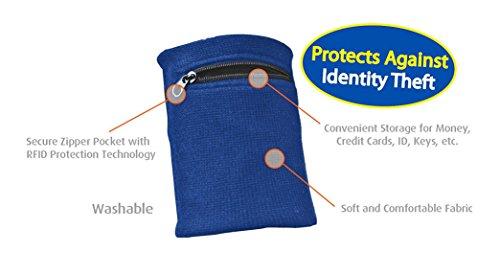 Clöudz RFID Protection Travel Wrist Wallet - Blue