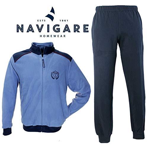 Navigare Pigiama Uomo Pile Aperto con Zip Jeans Taglie Over CONFORMATE B2141072BJEANS (56)