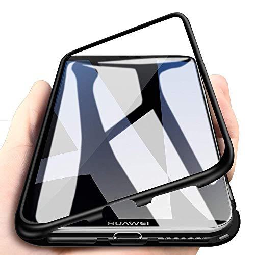 Huawei Honor Play Custodia Tecnologia di Adsorbimento Magnetico Rivestimento Posteriore in Vetro Temperato in Metallo Antiurto Cover per Honor Play