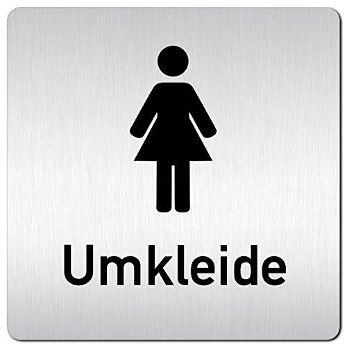 Kinekt3d Leitsysteme XXL Schild - Türschild • 125 x 125 mm • Umkleide Umkleideraum Damen Piktogramm • 1,5 mm Aluminium Vollmaterial • 100% Made in Germany