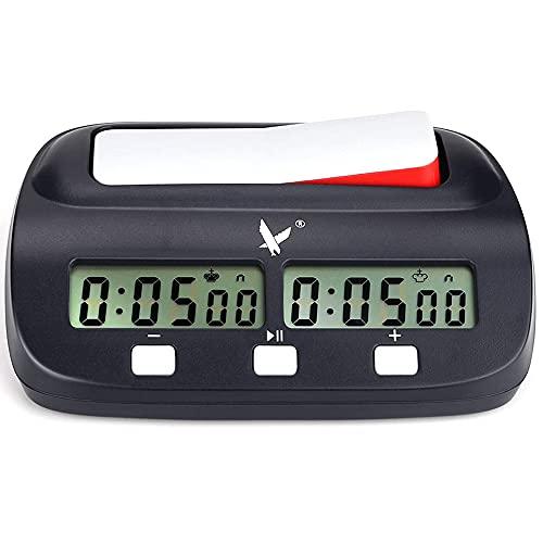 LEAP Reloj de Ajedrez Electrónico, Fide Aprobado Digital Multifuncional Pantalla Reloj de Ajedrez Profesional, Chess Ajedrez para Niños Temporizador Electrónica Junta Juego Ajedrez Competición
