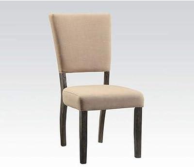 Amazon Com Benjara Benzara Wooden Dining Chair With