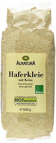 Alnatura Bio Haferkleie mit Keim, 6er Pack (6 x 500 g)