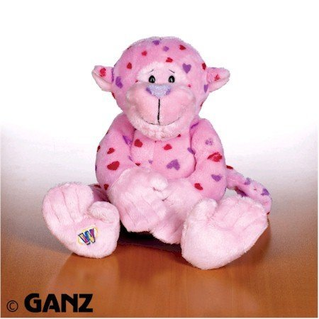 Webkinz Love Monkey with Trading Cards