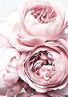 Blush Pink Peonies Poster, Peony Flowers Print, Peony Wall Art for Home and office-04 (A5)
