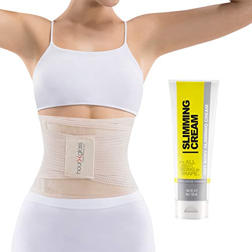 Waist Trainer Corset with Sweat Cream – Women's Slim Abs Waist Trimmer with Slimming Body and...
