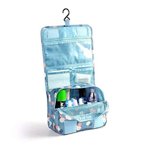 TwoCC Pockettrip Hanging Toiletry Kit Clear Travel Bag Cosmetic Bag Toiletry Bag Bu (Blue)
