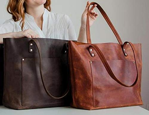 Everyday handbag for women Large leather tote Everyday shopper bag Brown large leather bag