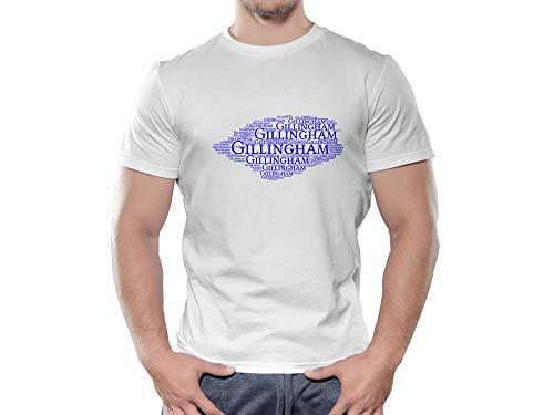 Gillingham FC Novelty Football Cloud T Shirt, (Age 12-13)
