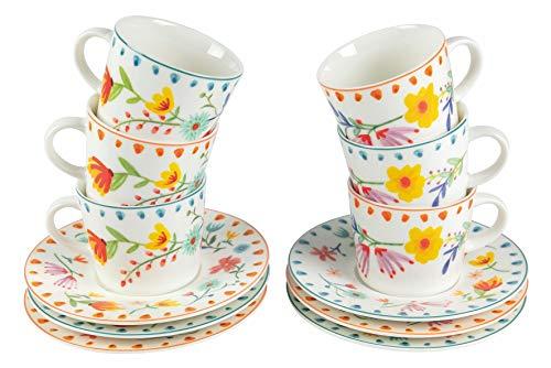Paseo de Flores - Juego de 6 Tazas de café