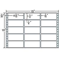 東洋印刷 タックフォームラベル 15インチ ×10インチ 15面付(1ケース500折) MH15H