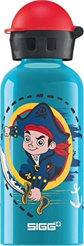 Sigg Captain Jake Gourde d'eau Mixte Enfant, Bleu (Turquoise), 0.4