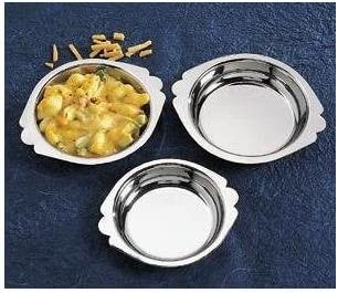 Inexpensive Royal Industries Charlotte Mall Round Au Gratin oz Steel Stainless Silver 8