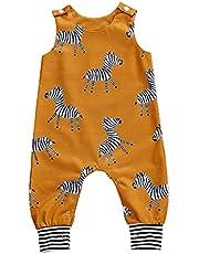 الصيف الوليد الطفل بنين بنات القطن رومبير أكمام زر بذلة playsuit وزرة عارضة الملابس (Color : A, Kid Size : 12M)