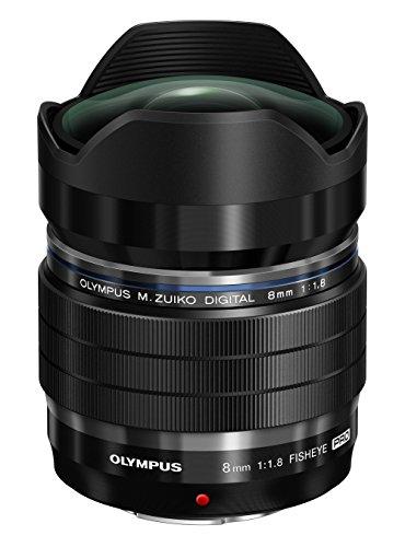 Olympus M.Zuiko Digital ED 8mm F1.8 PRO Objektiv (lichtstarke Festbrennweite, geeignet für alle MFT-Kameras, Olympus OM-D und PEN Modelle, Panasonic G-Serie), schwarz