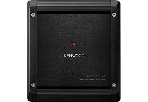 Kenwood X301-4 4.0 Coche Alámbrico Negro - Amplificador de Audio (4.0 Canales, D, 1%, 100 dB, 75 W, 50 W)