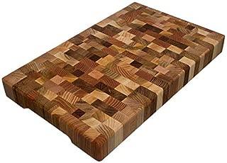 Cutting Board 16 x 10 x 1.6 inch End Grain Chopping Block Hardwood Extra Thick Wood: Cherry Oak Canadian Oak Ash-tree Walnut Beech Durable & Resistant