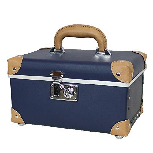 MOIERG(モアエルグ)裁縫箱 おしゃれ ソーイングボックス 救急箱 収納 裁縫道具 裁縫用品 小物入れ 裁縫ケース [71-55056-50] (ネイビー)