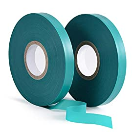 "TELENT OUTDOORS 2 Pcs 150 Feet x 1/2"" Wide Stretch Tie Tape Green Plant Garden Tie, Garden Vinyl Stake for Branches, Climbing Planters, Flowers 1 【Premium & Soft Material】- Made of high-quality vinyl material, the outdoor 150ft 1/2"" wide green ties are durable, sturdy, and soft enough. It will not harm plants fragile stems or branches and make them grow in the right direction. 【Stretchy & Adjustable】- The thick plants tie is stretchable and you can cut it according to the actual needs. It can provide reliable supports for all kinds of planters. The natural green color makes it integrated into the garden environment perfectly. 【Extra-Long Length】- The package comes with 2 pieces of 150 Feet plastic gardening tapes. Great for value and reusable. It can meet almost all your gardening needs. You can't miss it if you love planting!"
