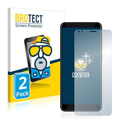 BROTECT 2X Entspiegelungs-Schutzfolie kompatibel mit ZTE Blade V9 Bildschirmschutz-Folie Matt, Anti-Reflex, Anti-Fingerprint