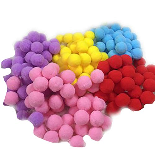 OMKMNOE Felt Pompons, Wool Felt Balls Handmade Felted Pastel Colors Large Puff Small Puff for Felting And Garland for Wall Tinker,1