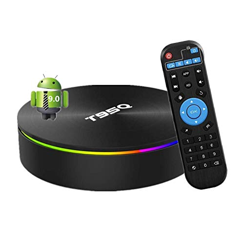 Android 9.0 TV Box, Smart Box 4GB RAM 32GB ROM Network Set Top Box Amlogic S905X2 Quad-core Cortex-A53 Support 2.4G/5G Dual Band WiFi 100M Ethernet/Bluetooth 4.1/H.265 Decoding/4K HDR