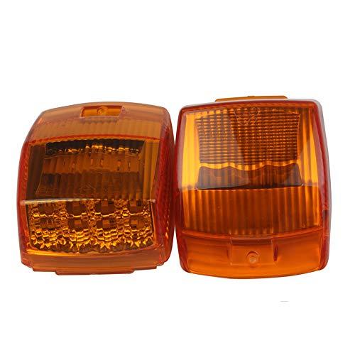 HEHEMM Autodach Licht, 17 LED Standlicht Hersteller Licht Tagfahrlicht Markierungsleuchten Oberes Dach Leuchte Dachkabine Seitenlichter für LKW Anhänger Kipper Sonderfahrzeug (2 STÜCK)