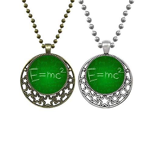 Halskette mit Anhänger für Relativität, Physikalische Formulierung, Taschenrechner, Liebhaber, Retro, Mond, Sterne, Schmuck