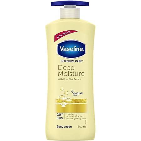 Vaseline Intensive Care Deep Moisture Body Lotion, Long Lasting Moisturisation For Healthy, Glowing Skin, 600 ml