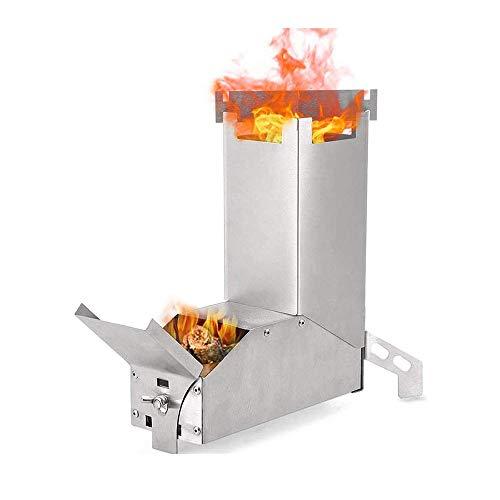 QSCZZ Cocina de cámping Plegable de leña de Acero