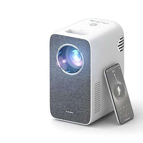 EXCLVEA Beamer HD-Projektor 3500lumen Multiscreen WiFi Mini Projetor Home Cinema 3D Smartphone für 1080p Videobeamer für das Spielen Filme (Farbe : White, Size : 184x130x233mm)