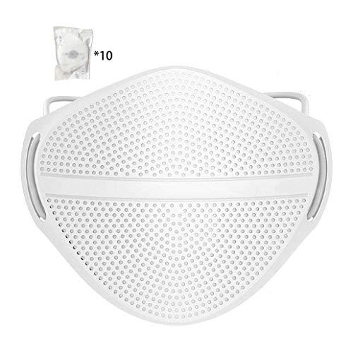 HUIGE Mund und Nase Trennung Gesicht Cover, Anti-Fog-Gesichts-Abdeckung für Erwachsene, Austauschbare Filter, atmungsaktiv, waschbar und wiederverwendbar Gesicht Abdeckung mit 10Pcs Filter