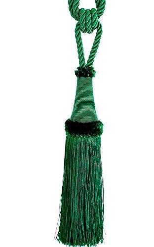 Quaste Raffhalter 65 cm 22 cm mit Kordel Farbe Grün Schmuckquaste Gardinen Vorhang Gardinenhalter...