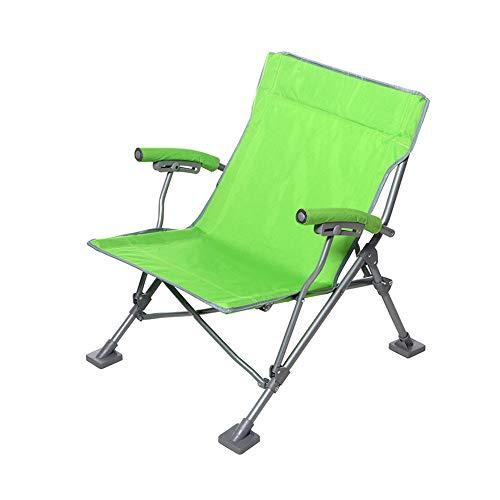 DEI QI Silla Plegable, American Leisure Plegable pequeño, reclinable, Silla pequeña Plegable, Silla de Playa de Pesca, fácil de Plegar, Acero Inoxidable