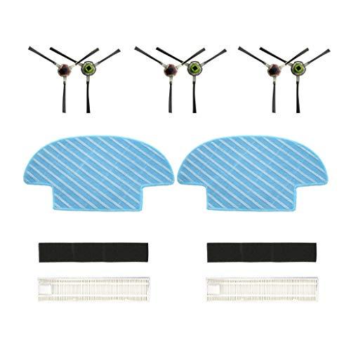 7 Teilig Für Ecovacs Slim Slim 2 Sweepers Robotic Saugroboter Ersatzteile Verschleißteile-Set Hepa Filter Seitenbürste Bürsten Mopp Tuch Set