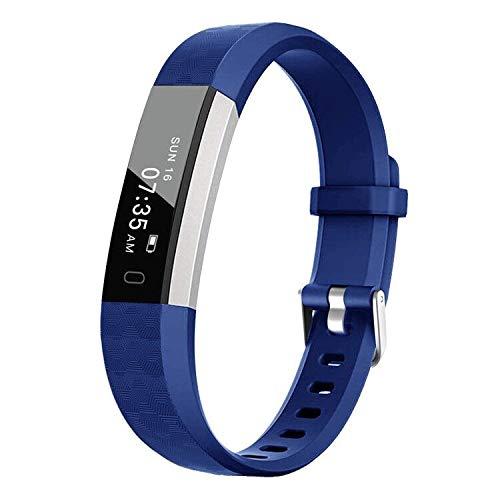 BIGGERFIVE Fitness Tracker Watch for Kids Girls Boys Teens, Activity Tracker, Pedometer, Calorie Sleep Monitor, Alarm Clock, IP67 Waterproof Step Counter Watch (Blue)
