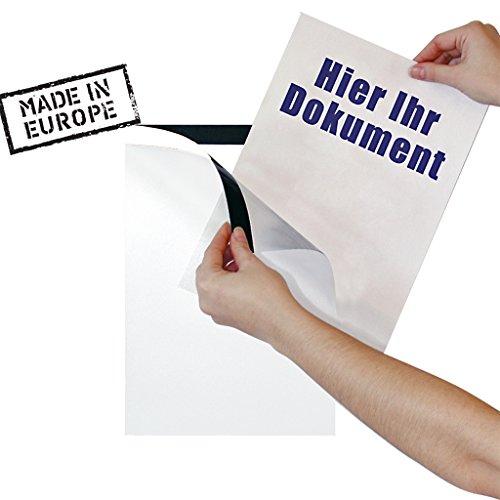 PosterFix® Plakattasche DIN A4 Weiß Hochformat Postertasche für Schaufensterwerbung