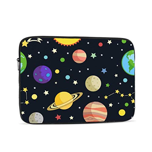 Laptop 13 Inch Case Cartoon Space Shiny Solar System Planet MacBook Shell Multi-Color & Size Choices10/12/13/15/17 Inch Computer Tablet Briefcase Carrying Bag