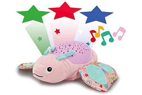 Jamara 460433 Sternenlicht Dreamy Schmetterling Sternenhimmel Projektion, Stern-/ Mondmuster, LED wechselnde Farben, beruhigende Melodien,...